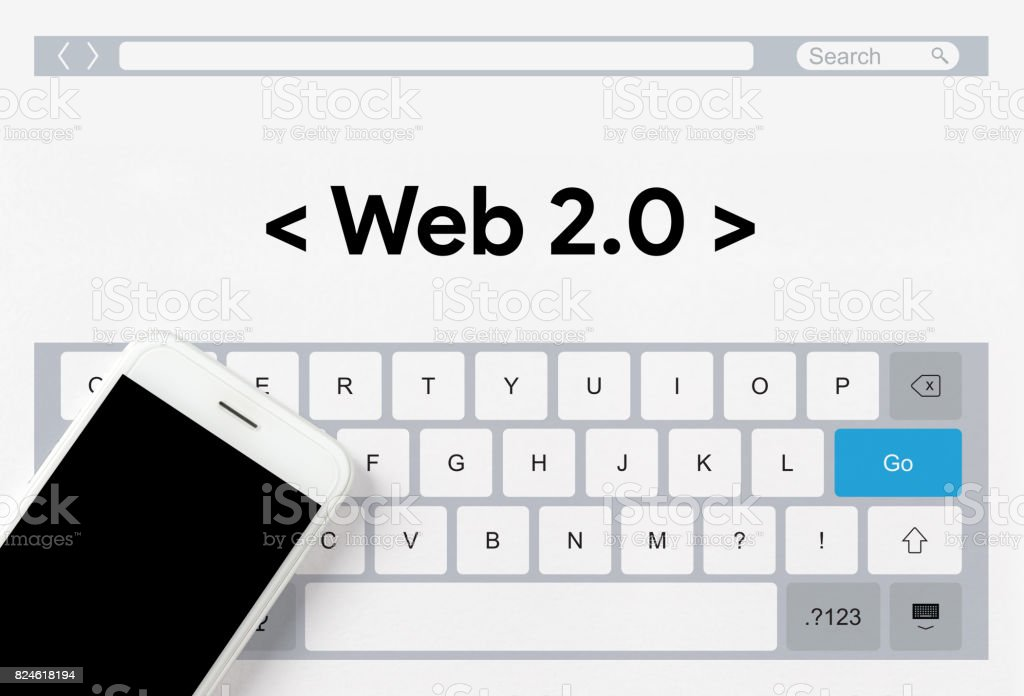 WEB 2.0 CONCEPT stock photo