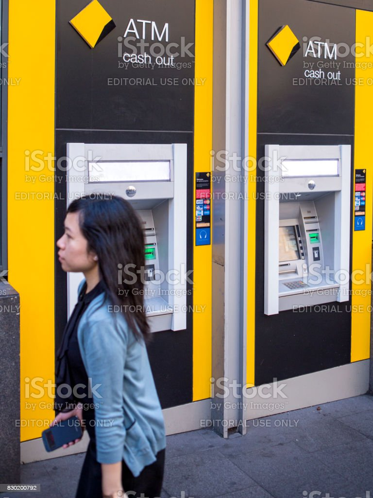 CBA ATM stock photo