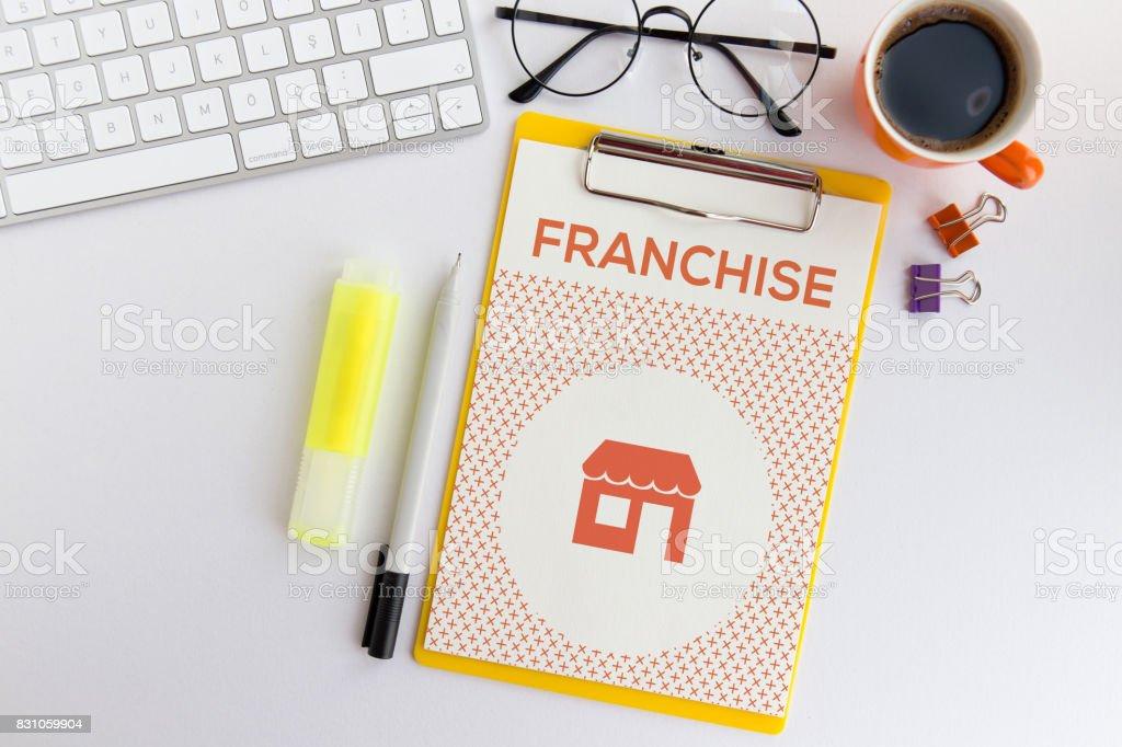 FRANCHISE CONCEPT stock photo