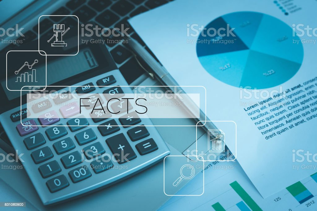 FACTS CONCEPT stock photo
