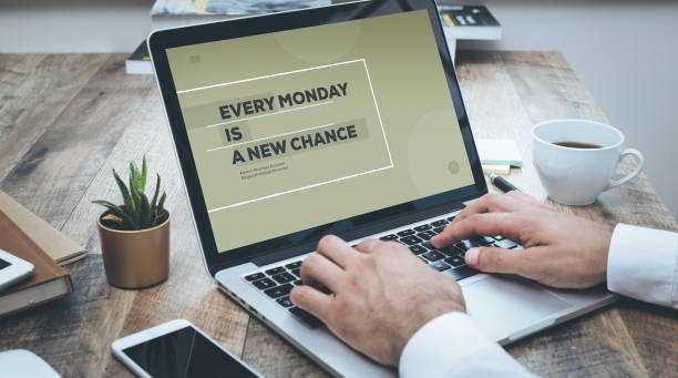 every monday is a new change - monday motivation stock photos and pictures