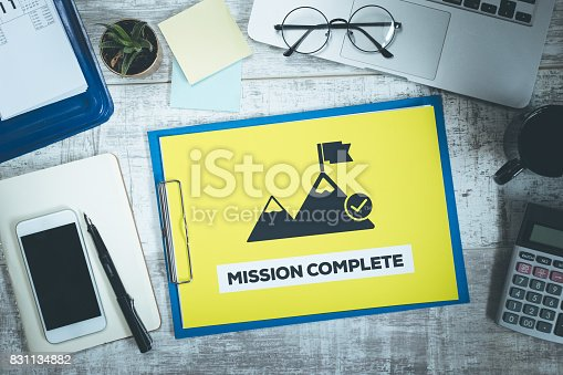 istock MISSION COMPLETE 831134882