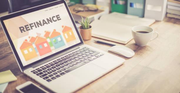 refinancement hypothécaire prêt concept - emprunt immobilier photos et images de collection