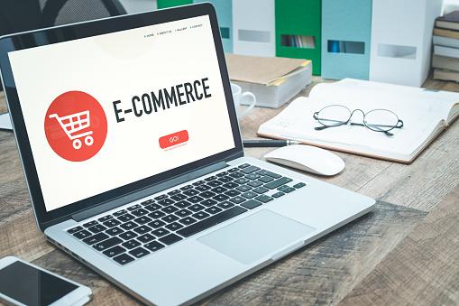 E Commerce Concept - Fotografie stock e altre immagini di Affari