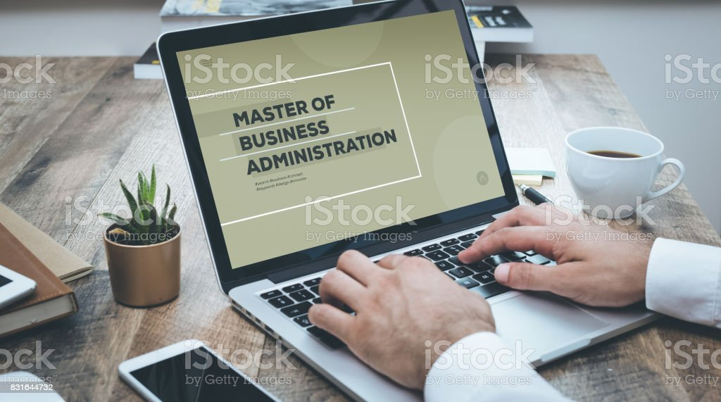 MASTER OF BUSINESS ADMINISTRATION CONCEPT stock photo