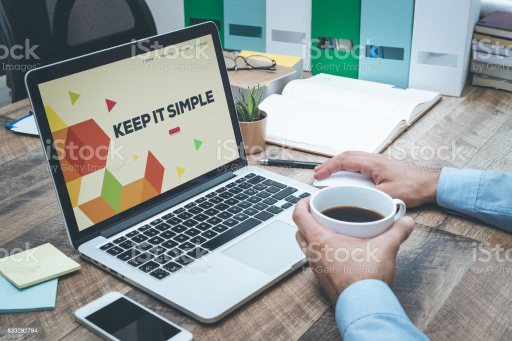 KEEP IT SIMPLE CONCEPT stock photo
