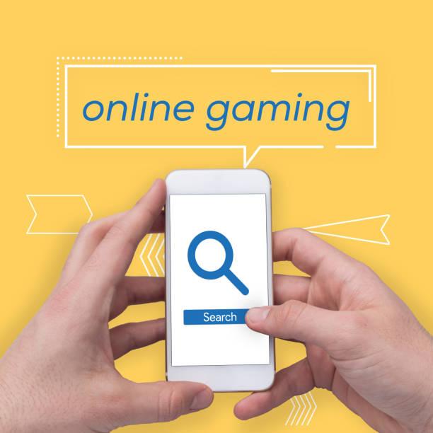online-gaming-konzept - free online game stock-fotos und bilder
