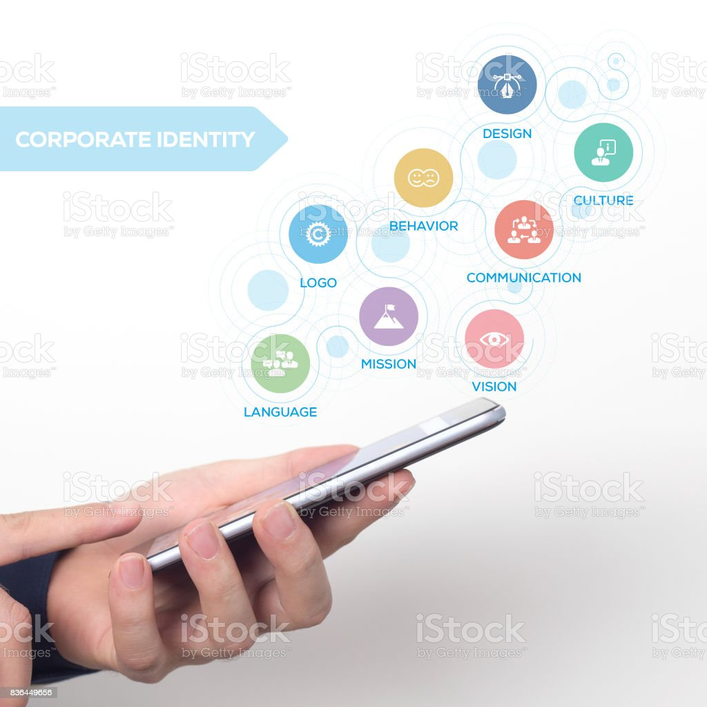 CORPORATE IDENTITY CONCEPT stock photo