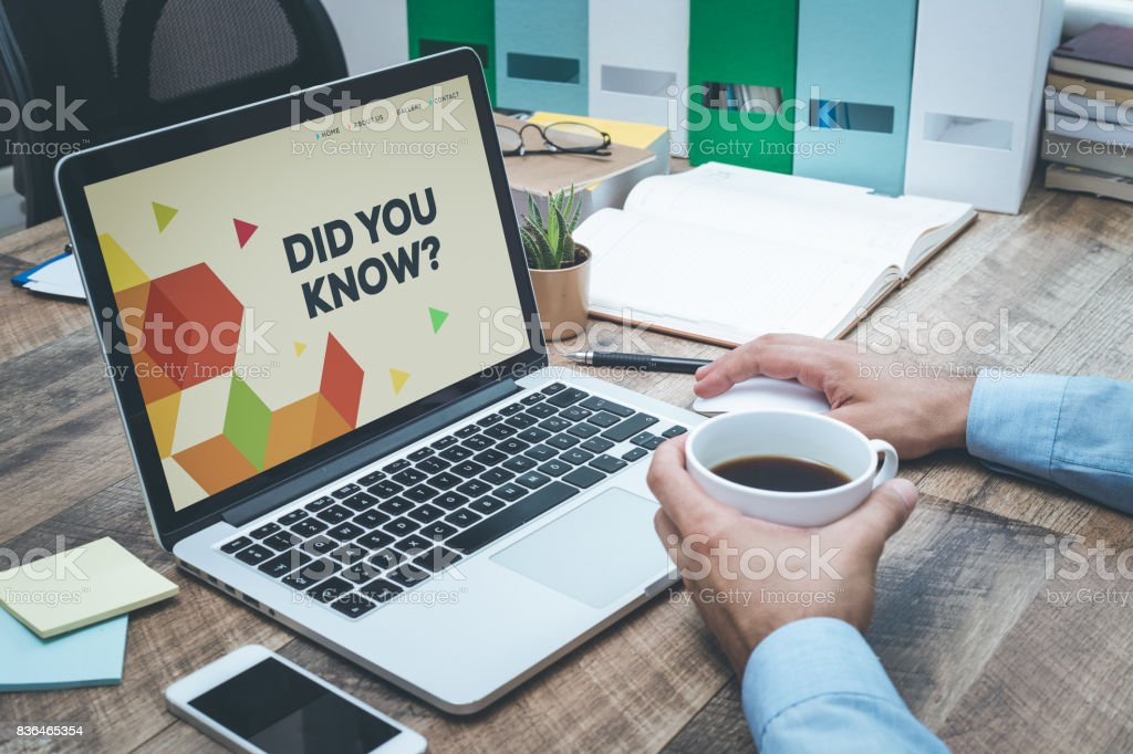 DID YOU KNOW CONCEPT stock photo