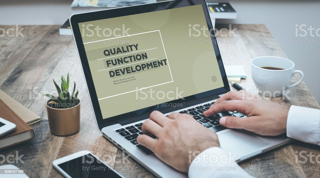 QUALITY FUNCTION DEVELOPMENT CONCEPT stock photo