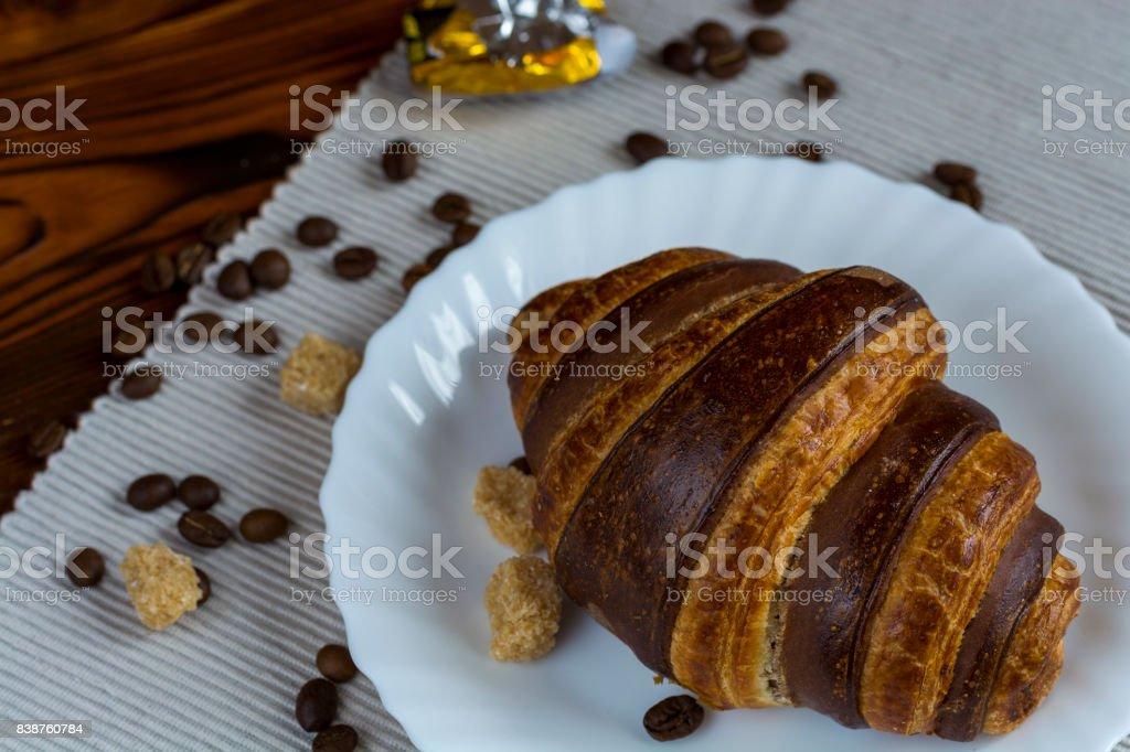 Шоколадный Круассан stock photo
