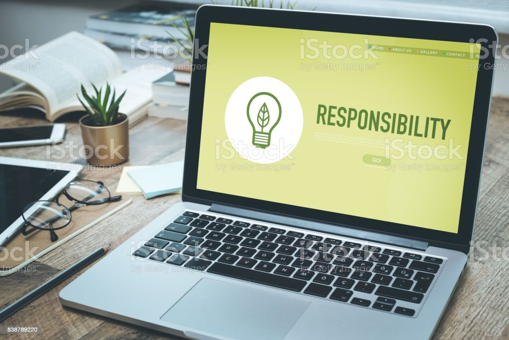 RESPONSIBILITY CONCEPT - foto stock