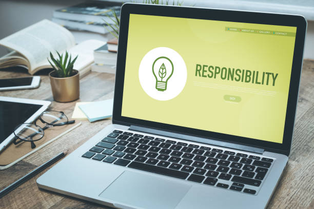 responsibility concept - responsible business stock photos and pictures