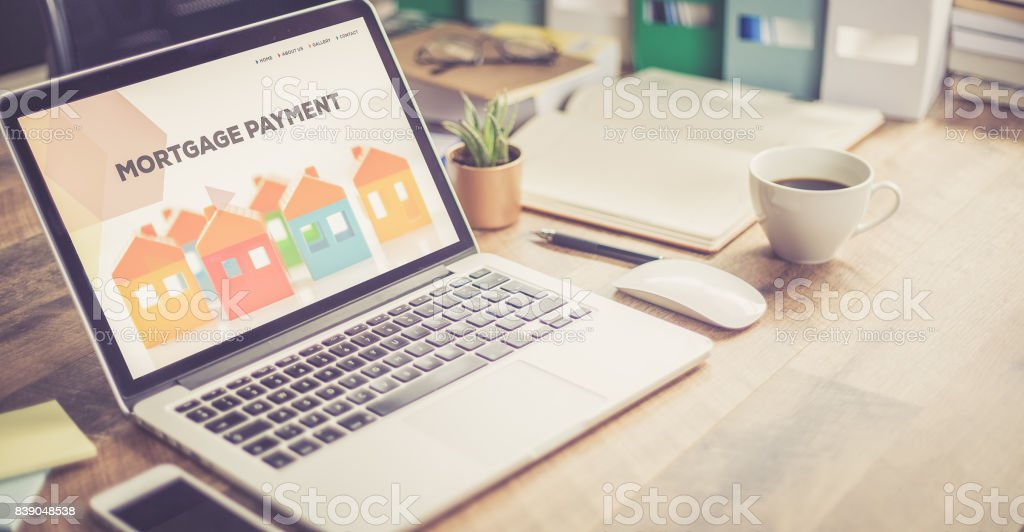 MORTGAGE PAYMENT CONCEPT stock photo