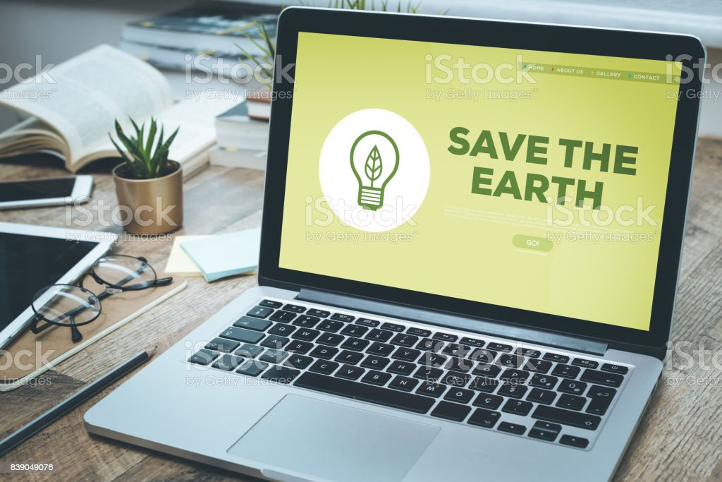 SAVE THE EARTH CONCEPT stock photo