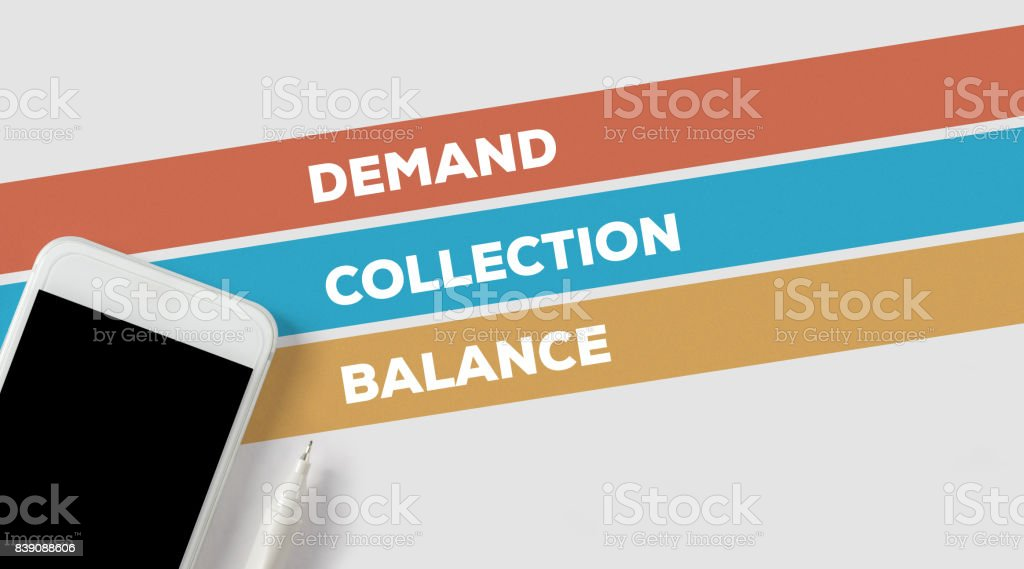 DEMAND COLLECTION BALANCE CONCEPT stock photo