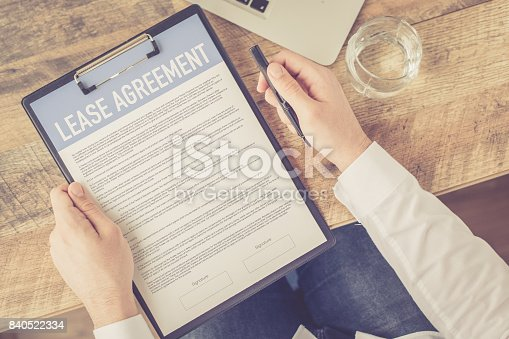 istock LEASE AGREEMENT CONCEPT 840522334