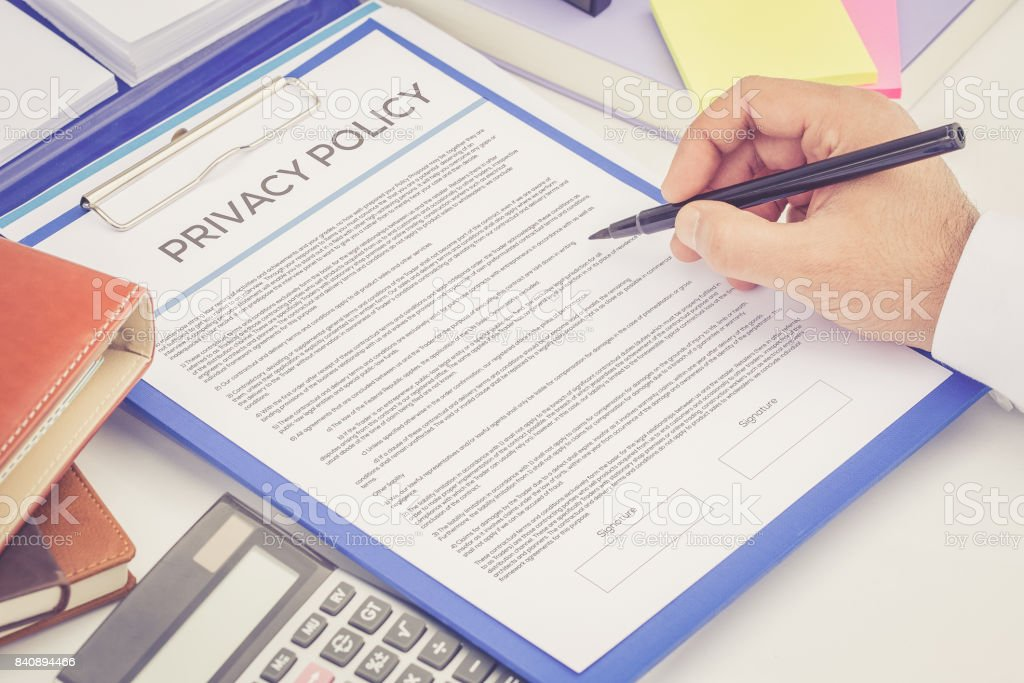 PRIVACY POLICY CONCEPT stock photo
