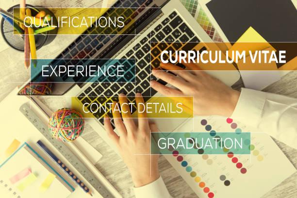 curriculum vitae-konzept - bewerbung lebenslauf stock-fotos und bilder
