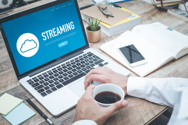 STREAMING CONCEPT stock photo