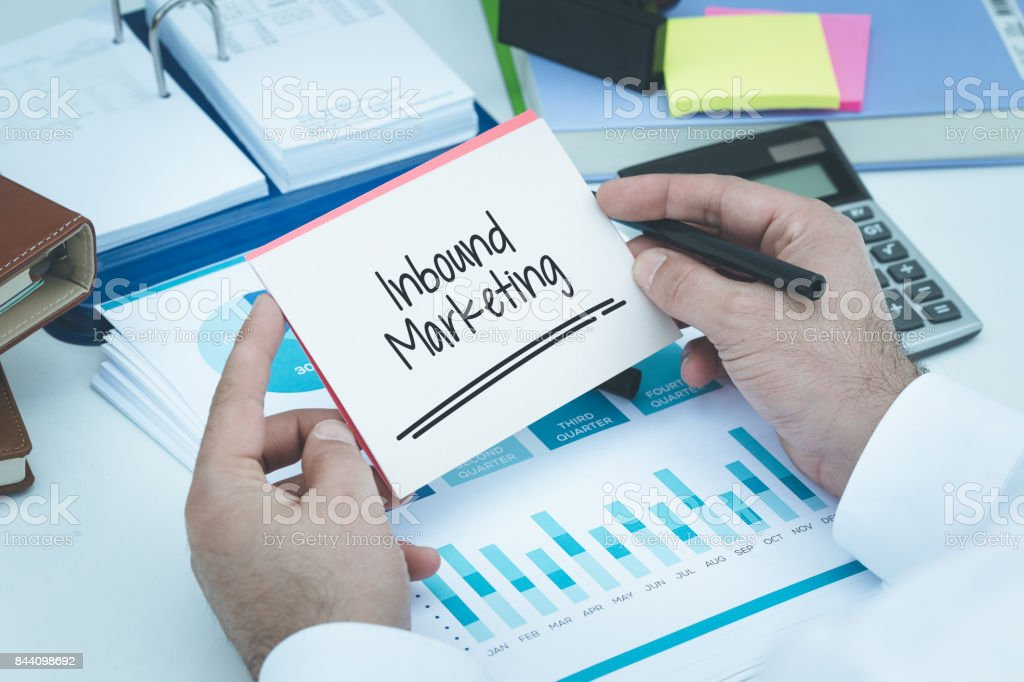 INBOUND MARKETING CONCEPT stock photo
