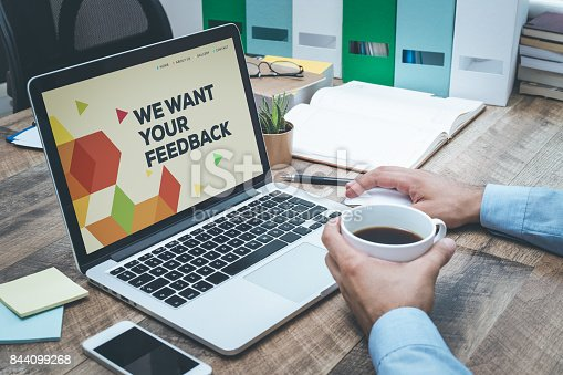 istock WE WANT YOUR FEEDBACK CONCEPT 844099268