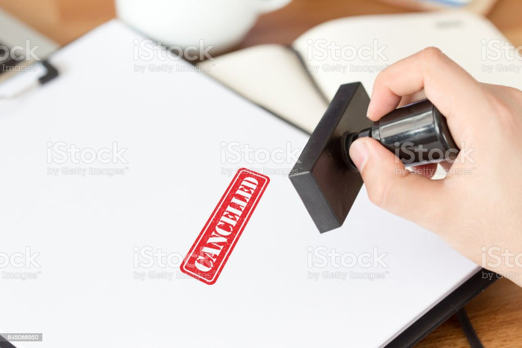 CANCELLED CONCEPT stock photo