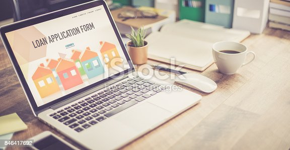 istock LOAN APPLICATION FORM CONCEPT 846417692