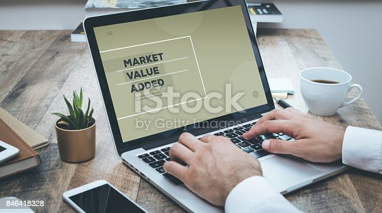 istock MARKET VALUE ADDED CONCEPT 846418328