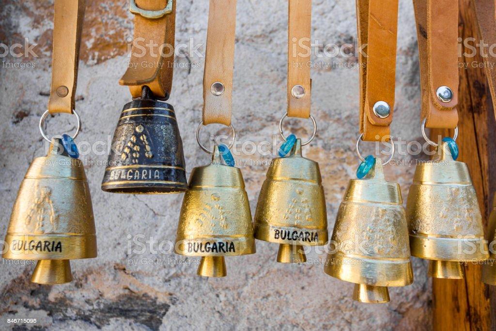 BULGARIA TRADITIONAL BELLS MOUNTAIN stock photo
