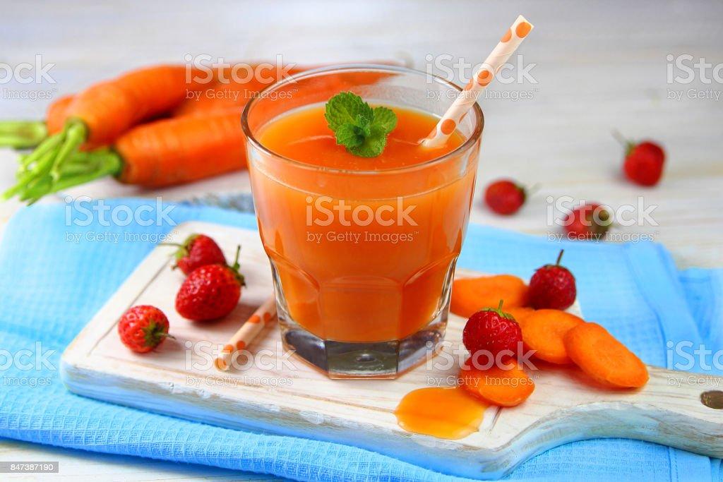 морковный смузи stock photo