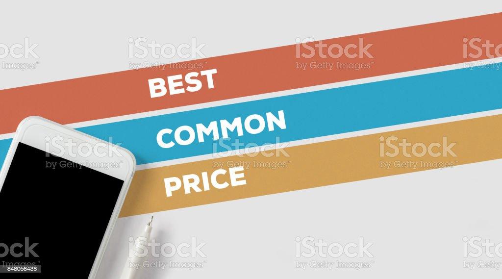 BEST COMMON PRICE CONCEPT stock photo