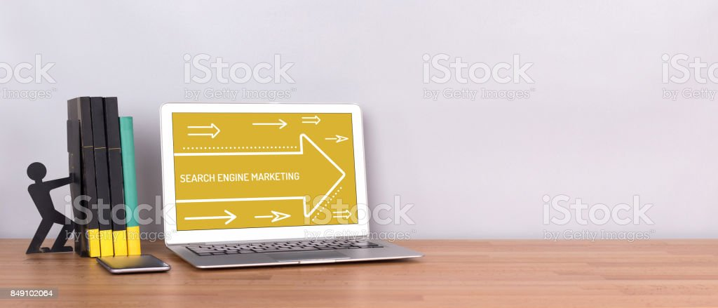 SEARCH ENGINE MARKETING CONCEPT stock photo