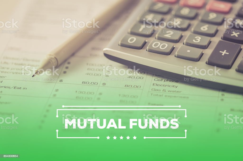 MUTUAL FUNDS CONCEPT stock photo