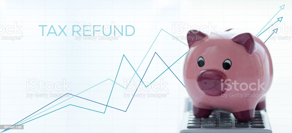 TAX REFUND CONCEPT stock photo