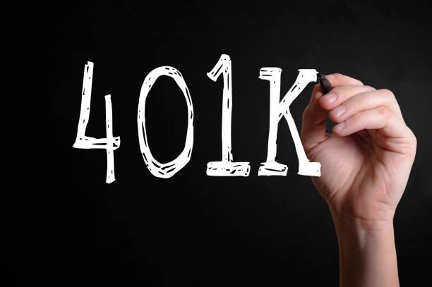 401 k-englischer begriff - k projekt stock-fotos und bilder