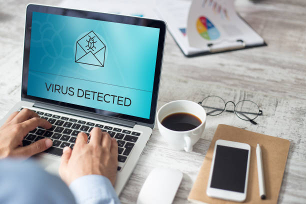 VIRUS DETECTED CONCEPT VIRUS DETECTED CONCEPT security equipment stock pictures, royalty-free photos & images