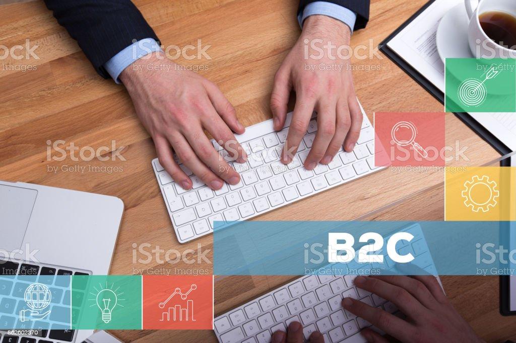 B2C CONCEPT stock photo