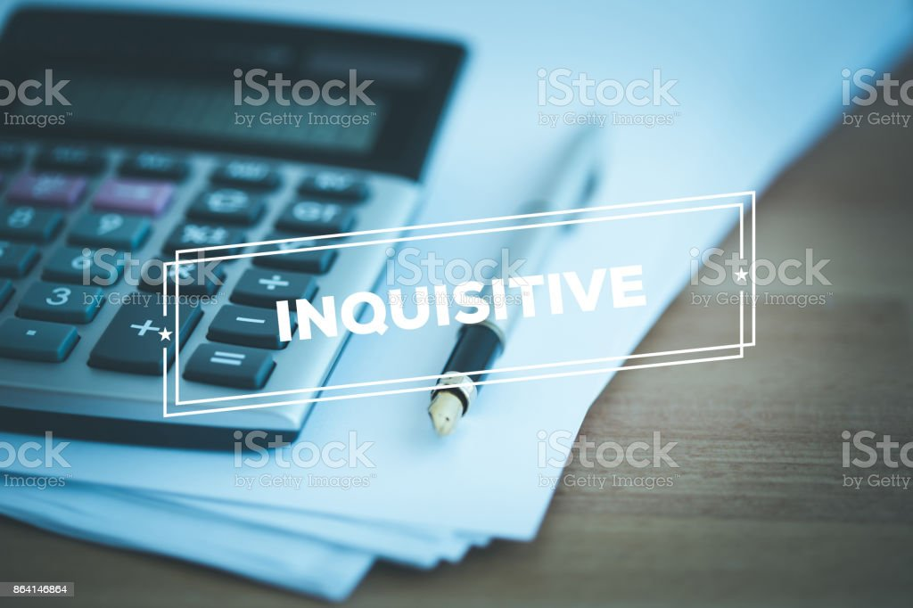INQUISITIVE CONCEPT royalty-free stock photo