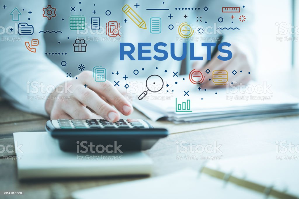 RESULTS CONCEPT royalty-free stock photo