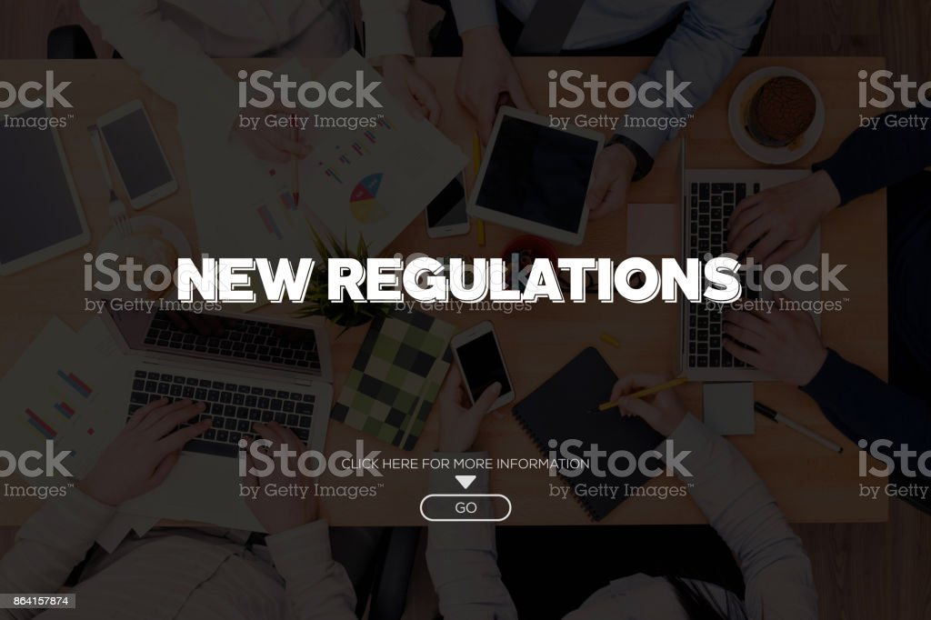 NEW REGULATIONS CONCEPT royalty-free stock photo
