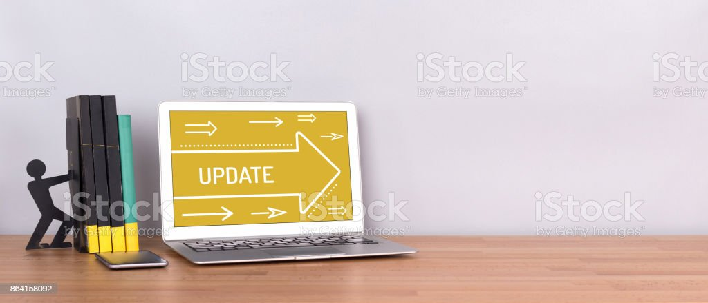 UPDATE CONCEPT royalty-free stock photo