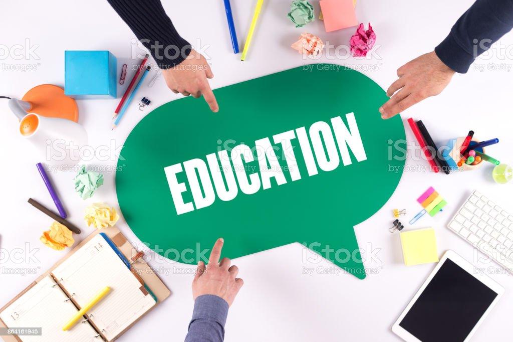 TEAMWORK BUSINESS BRAINSTORM EDUCATION CONCEPT royalty-free stock photo