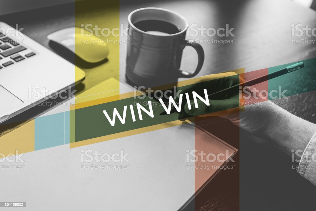 WIN WIN CONCEPT royalty-free stock photo