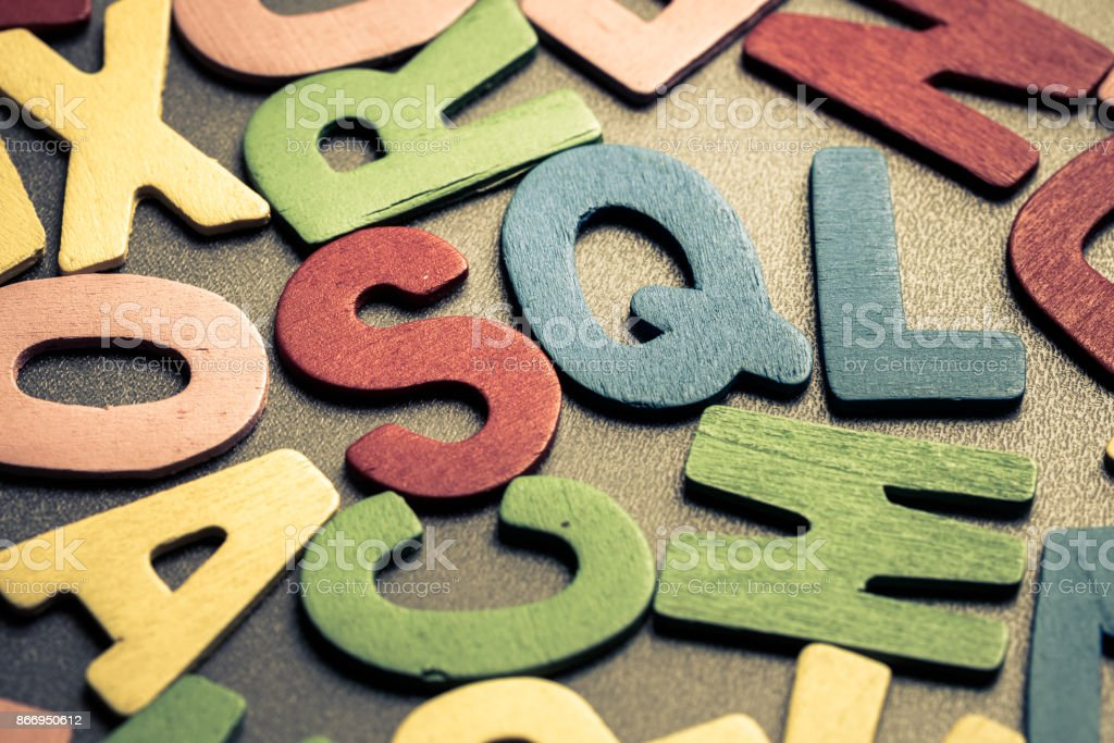 SQL (structured query language) stock photo
