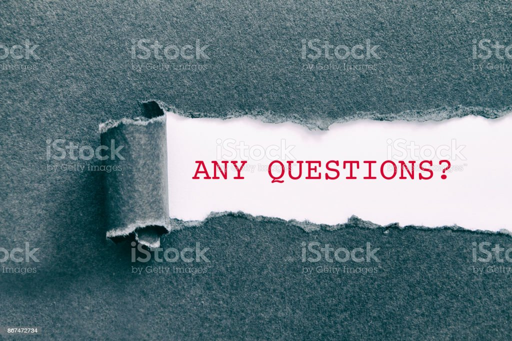 ANY QUESTIONS stock photo
