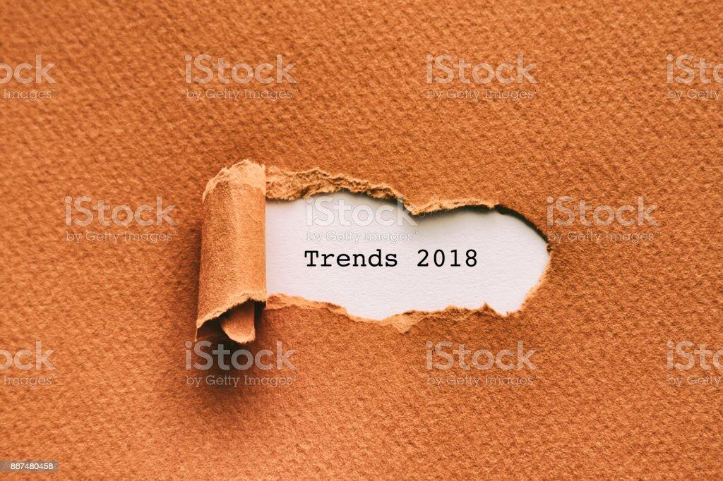 TRENDS 2018 stock photo