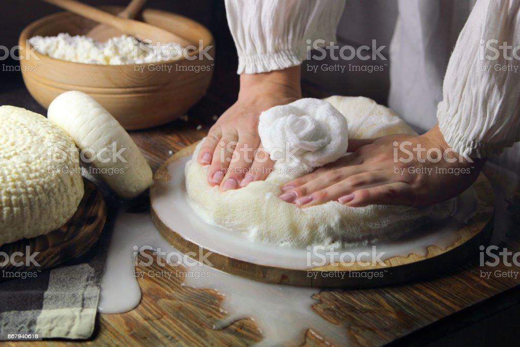 домашний сыр stock photo