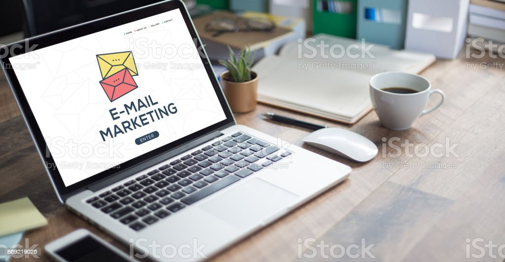 E-MAIL MARKETING CONCEPT stock photo