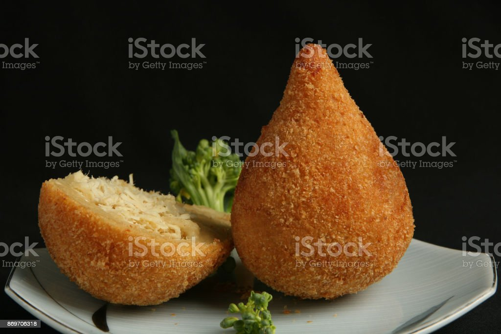 COXINHA DE FRANGO stock photo